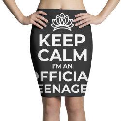 keep calm birthday official teenager Pencil Skirts | Artistshot
