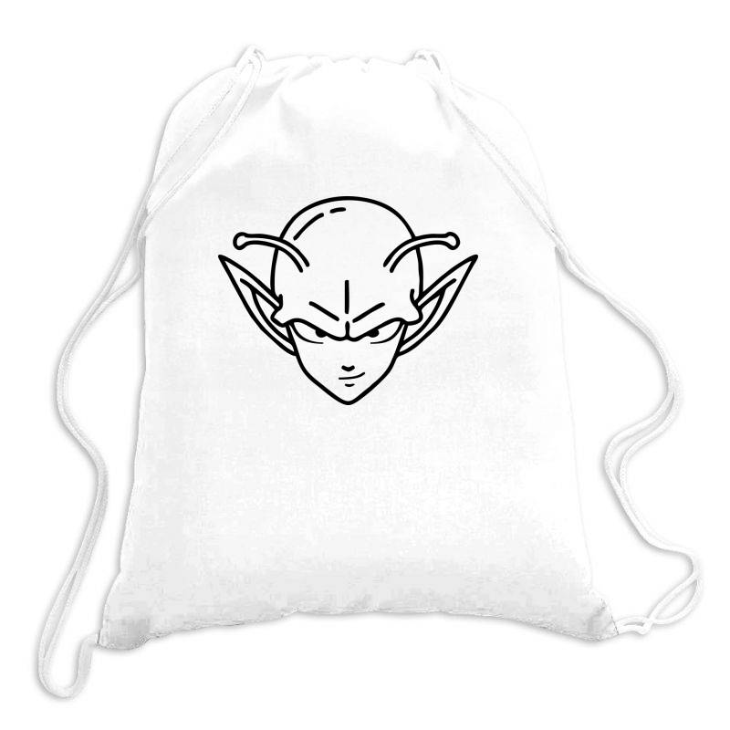 Dragon Ball Z (dbz) Piccolo (low Poly Abstract) Fanart Drawstring Bags | Artistshot