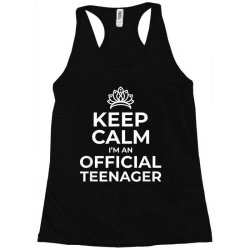 keep calm birthday official teenager Racerback Tank | Artistshot