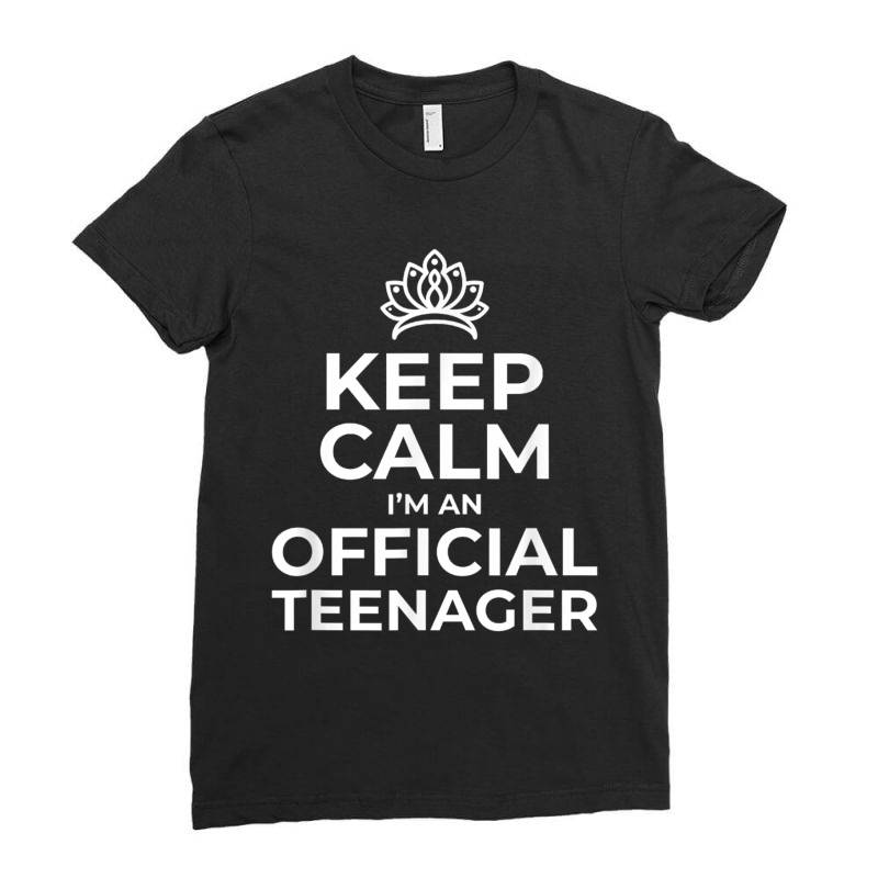Keep Calm Birthday Official Teenager Ladies Fitted T-shirt | Artistshot