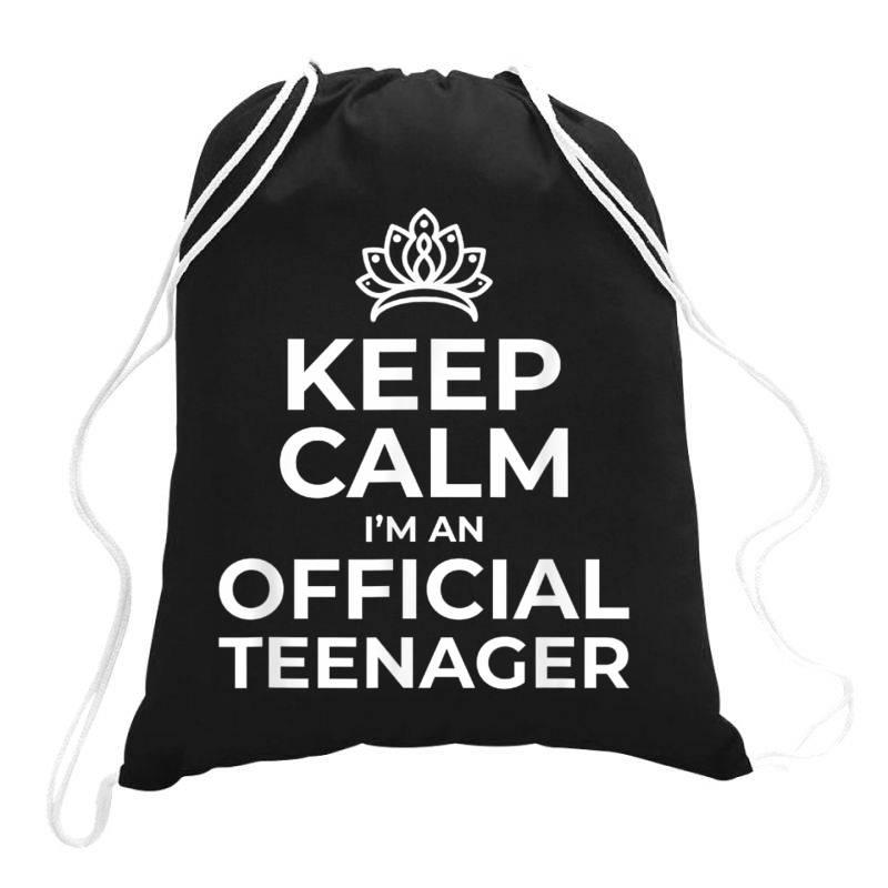 Keep Calm Birthday Official Teenager Drawstring Bags   Artistshot