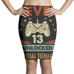 official teenager 13th birthday Pencil Skirts   Artistshot