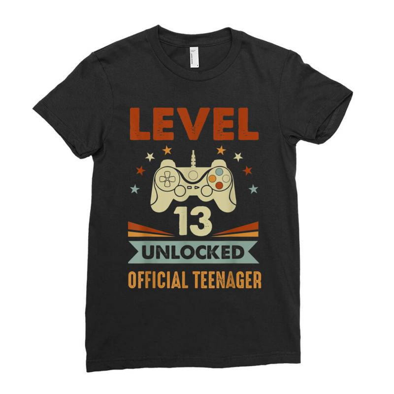 Official Teenager 13th Birthday Ladies Fitted T-shirt   Artistshot