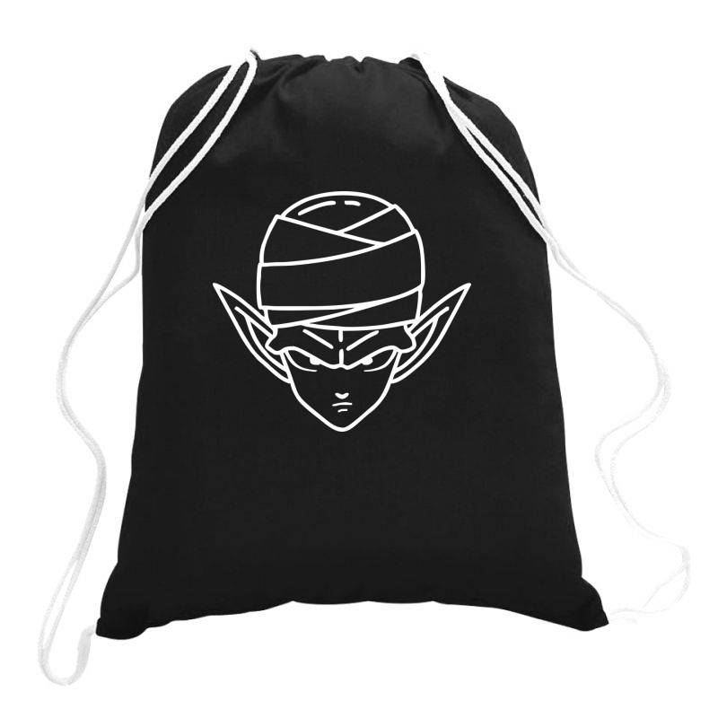 Dragon Ball Z (dbz) Piccolo (low Poly Abstract) Fanart Drawstring Bags | Artistshot