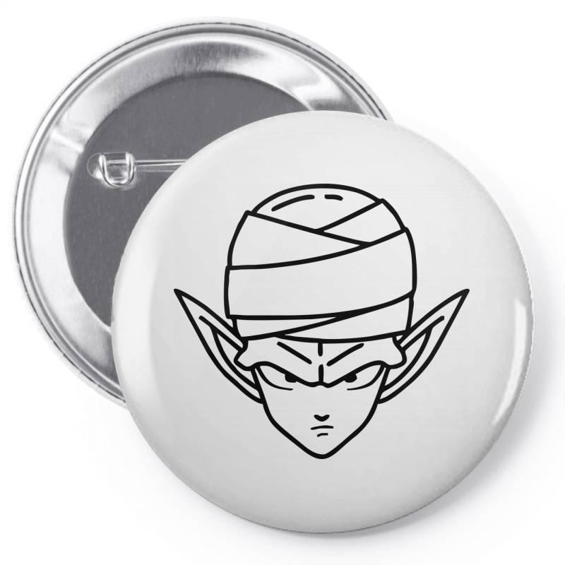 Dragon Ball Z (dbz) Piccolo (low Poly Abstract) Fanart Pin-back Button   Artistshot