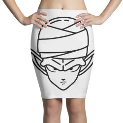 Dragon ball Z (DBZ) Piccolo (Low Poly Abstract) FanArt Pencil Skirts | Artistshot