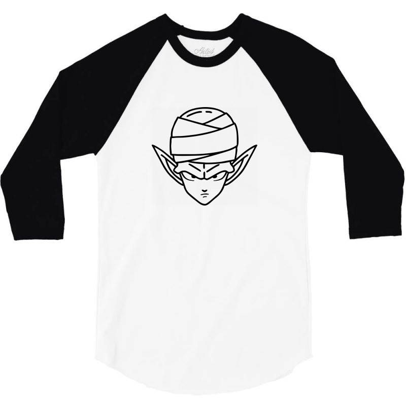 Dragon Ball Z (dbz) Piccolo (low Poly Abstract) Fanart 3/4 Sleeve Shirt   Artistshot