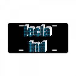 Ind lecia License Plate   Artistshot