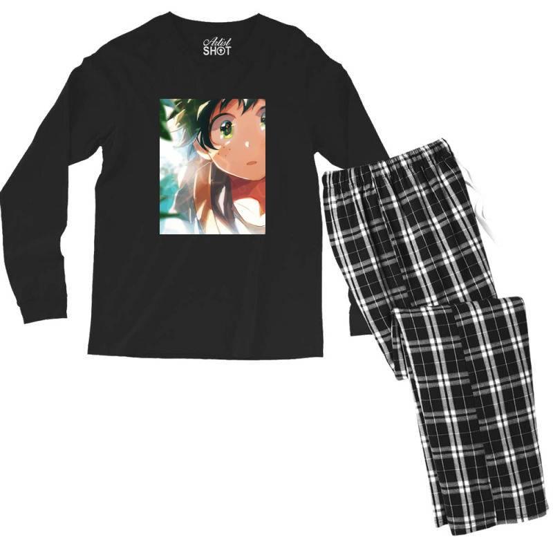 My Hero Academia (izuku Midoriya) Cute Men's Long Sleeve Pajama Set | Artistshot