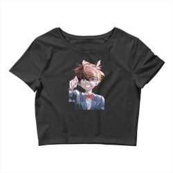 Detective conan (Low Poly Abstract) (ZoomOut Effect) Crop Top | Artistshot