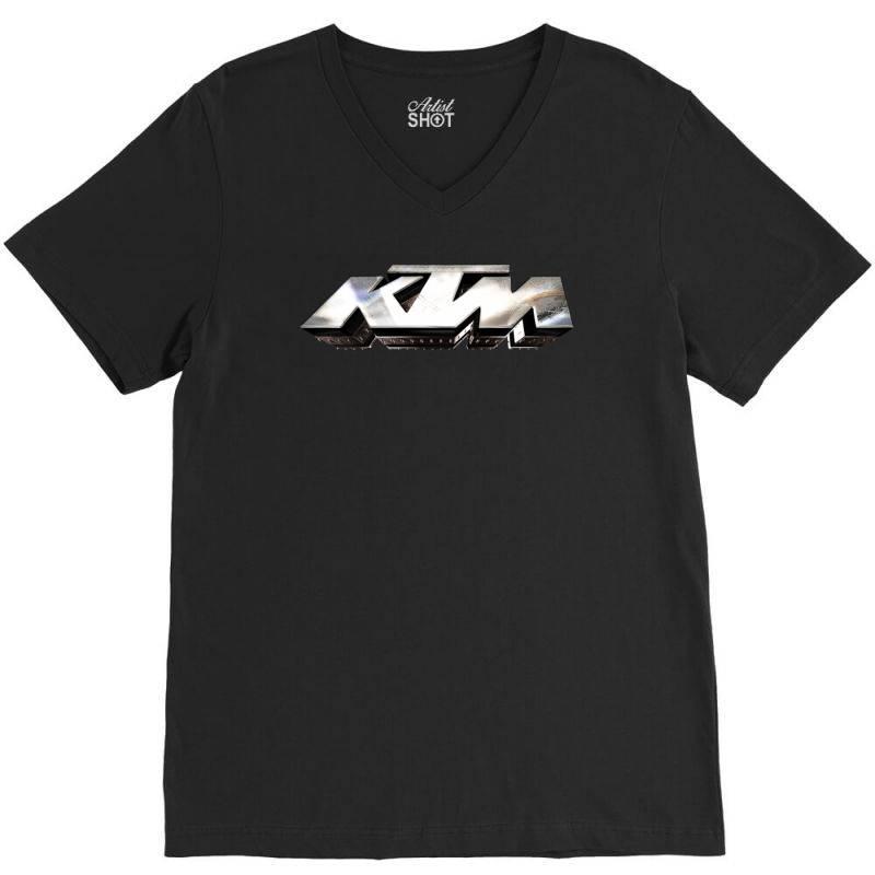 Ktm License Plate V-neck Tee   Artistshot