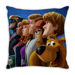 SCOOB! (2020) Fanart (Low Poly) ZoomOut Effect Throw Pillow | Artistshot