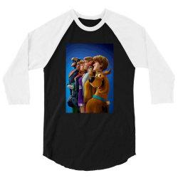 SCOOB! (2020) Fanart (Low Poly) ZoomOut Effect 3/4 Sleeve Shirt | Artistshot