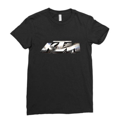 Ktm Racing License Plate Ladies Fitted T-shirt Designed By Tiococacola