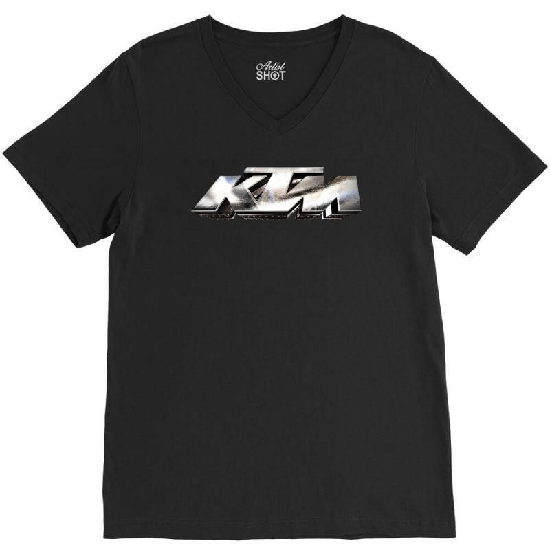 Ktm Racing License Plate V-neck Tee | Artistshot