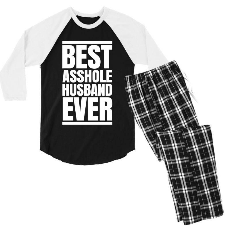 Best Asshole Husband Ever Men's 3/4 Sleeve Pajama Set   Artistshot
