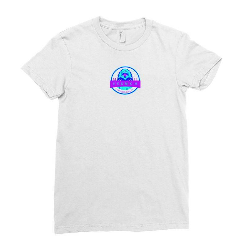 Purple Strip Eysmxh Ladies Fitted T-shirt   Artistshot