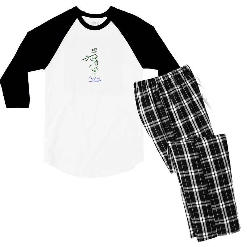 Krishna Men's 3/4 Sleeve Pajama Set | Artistshot
