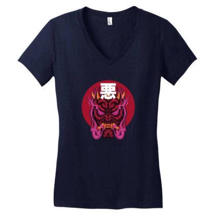 Darth  Maul Hannya Mask Design Women's V-neck T-shirt Designed By Hirooochii