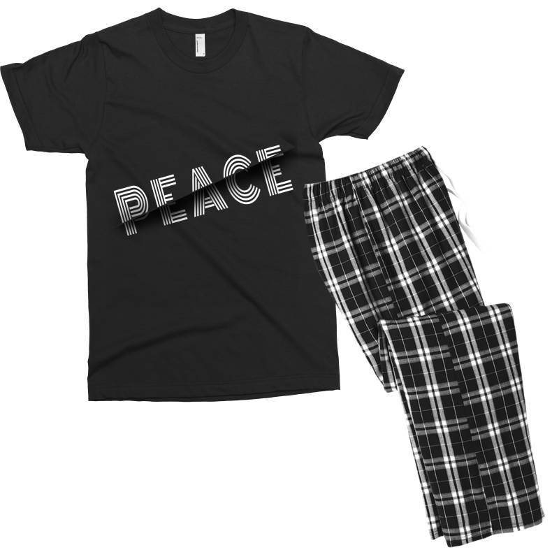 Sliced Peace Men's T-shirt Pajama Set   Artistshot