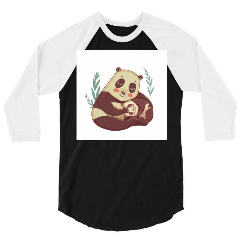 Pandas 3/4 Sleeve Shirt | Artistshot