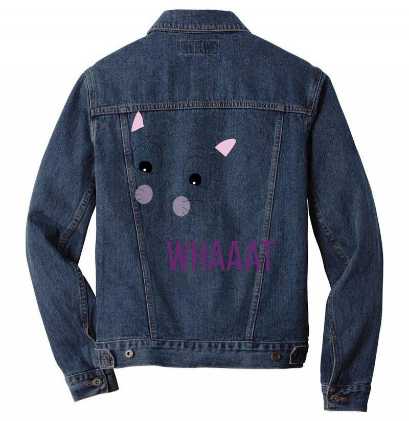 Cat Whaaat Men Denim Jacket   Artistshot