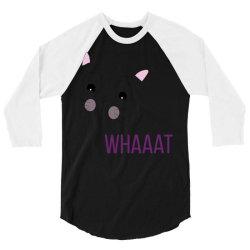 cat whaaat 3/4 Sleeve Shirt | Artistshot