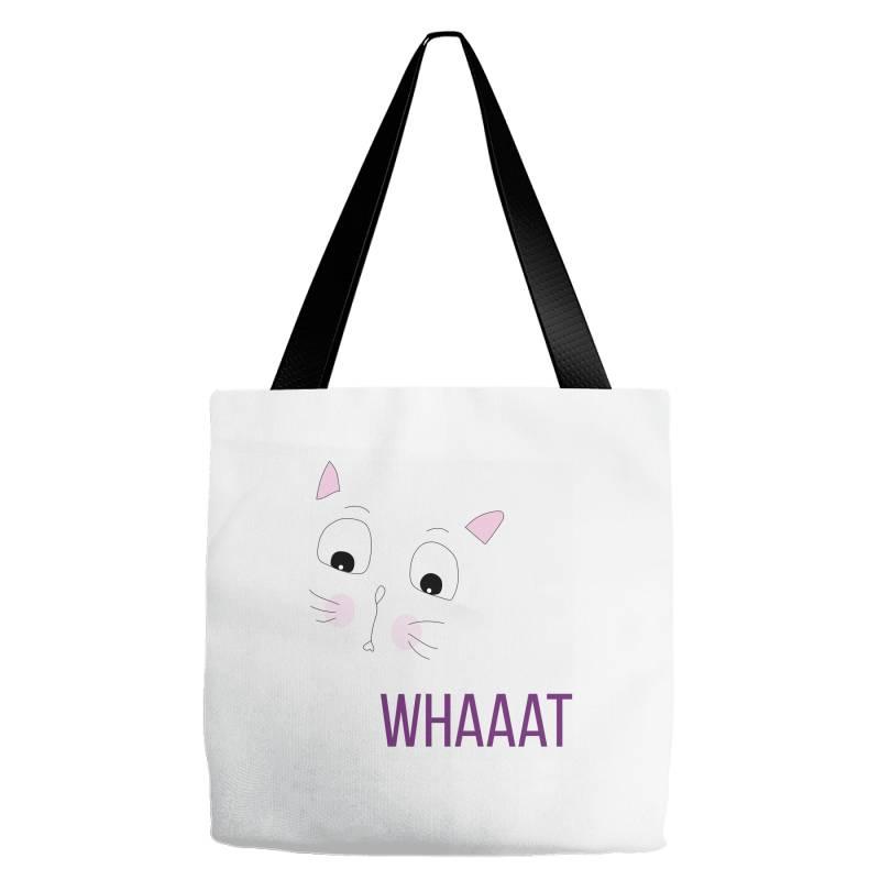 Cat Whaaat Tote Bags | Artistshot