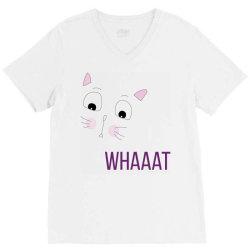 cat whaaat V-Neck Tee | Artistshot