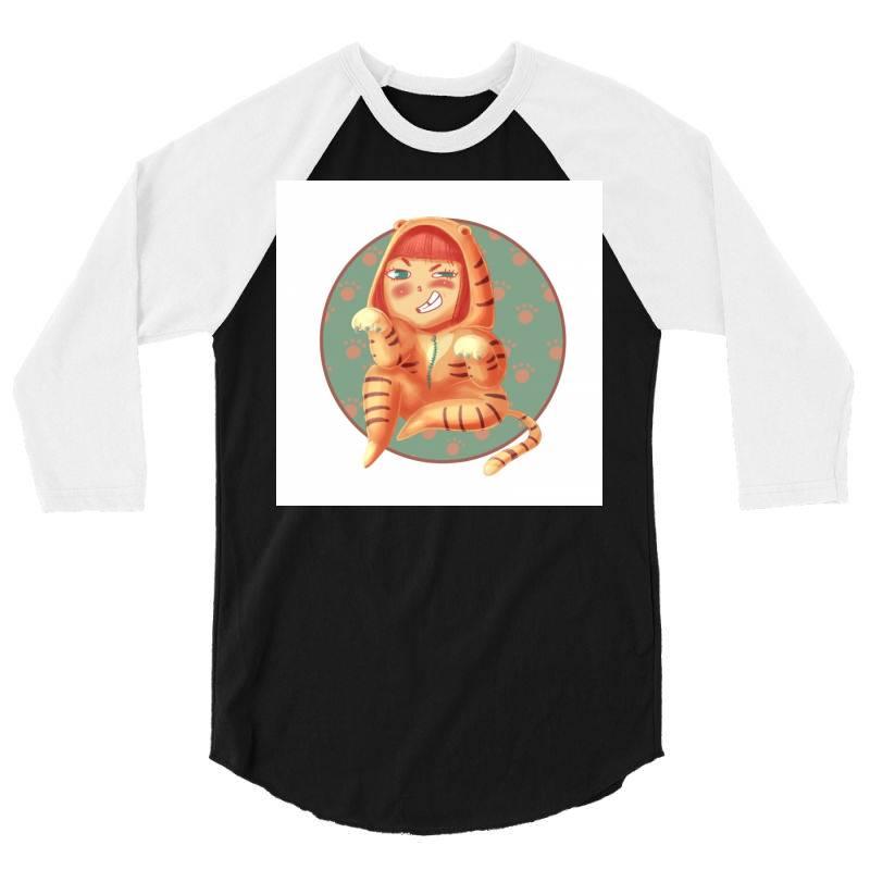 Tigress 3/4 Sleeve Shirt | Artistshot