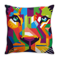 Face of the king Throw Pillow | Artistshot