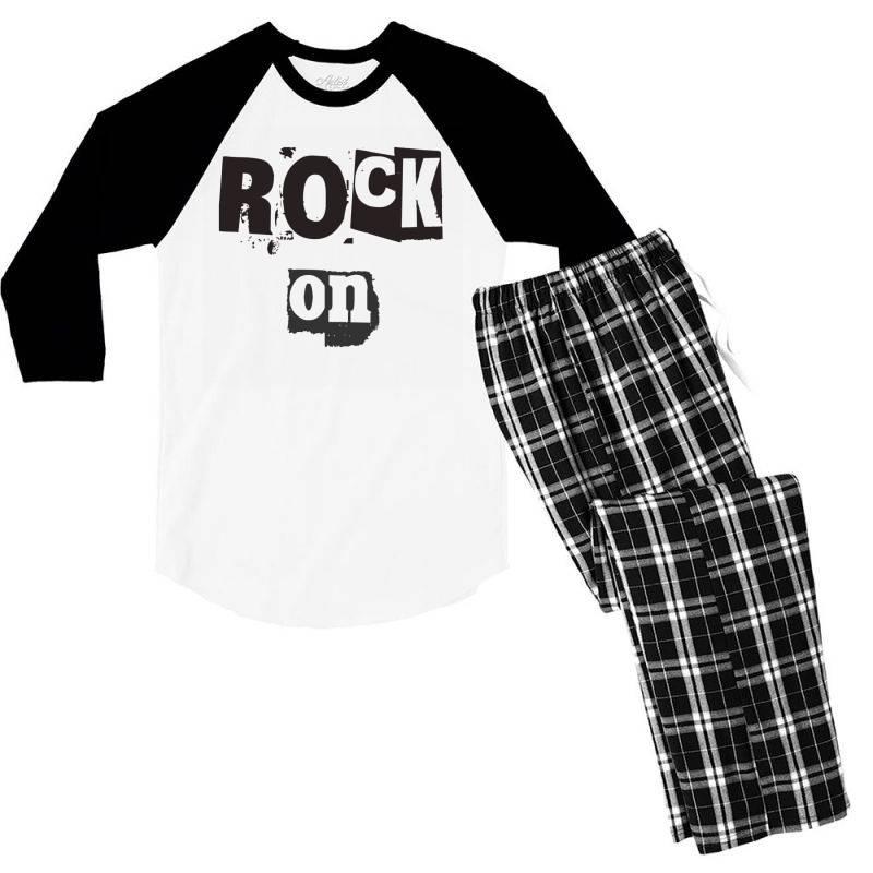 Style Men's 3/4 Sleeve Pajama Set   Artistshot