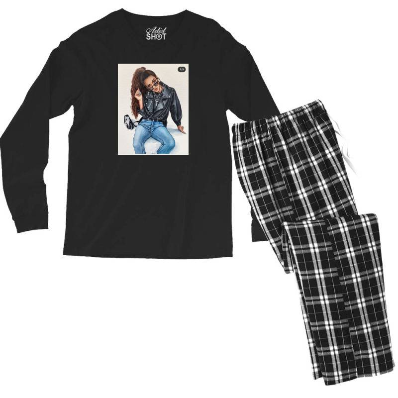 Girl Men's Long Sleeve Pajama Set | Artistshot