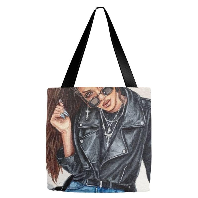 Girl Tote Bags | Artistshot