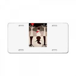Snowman License Plate   Artistshot