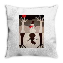 Snowman Throw Pillow   Artistshot