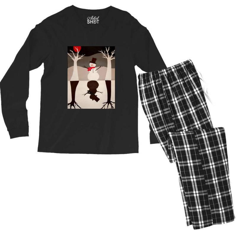 Snowman Men's Long Sleeve Pajama Set   Artistshot