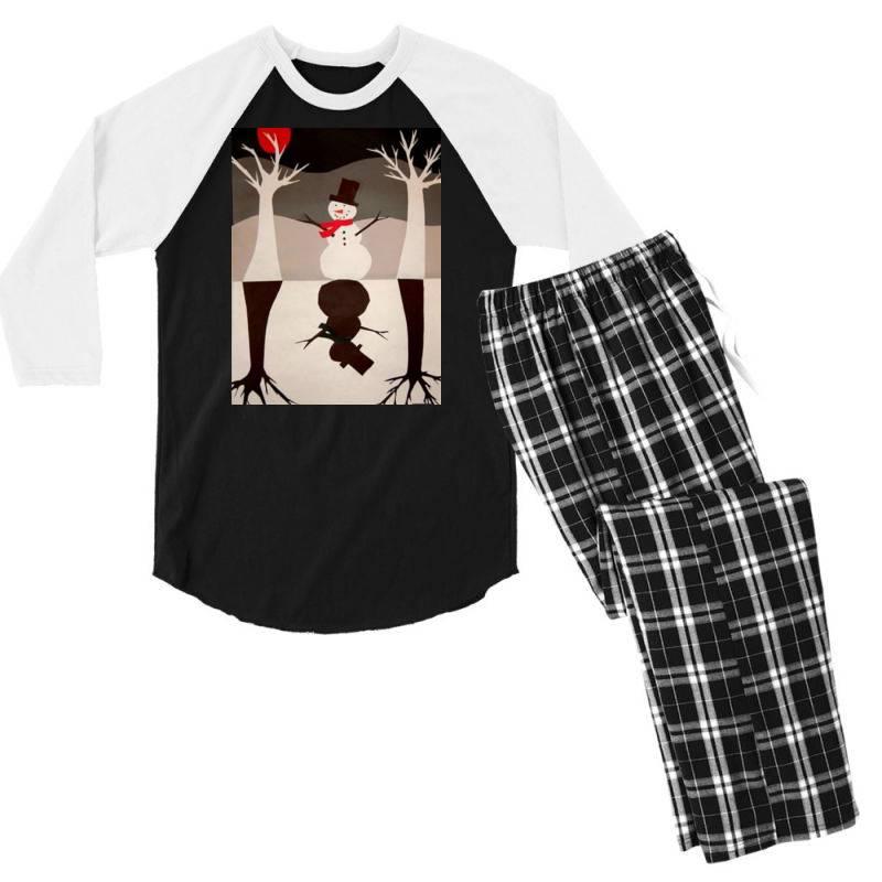 Snowman Men's 3/4 Sleeve Pajama Set | Artistshot