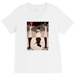 Snowman V-Neck Tee | Artistshot