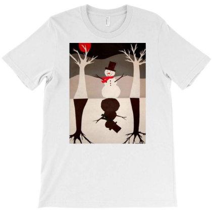 Snowman T-shirt Designed By Mapra