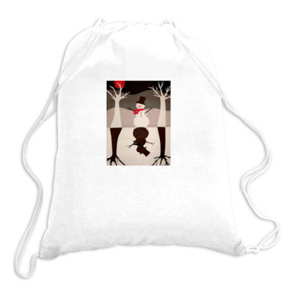 Snowman Drawstring Bags Designed By Mapra