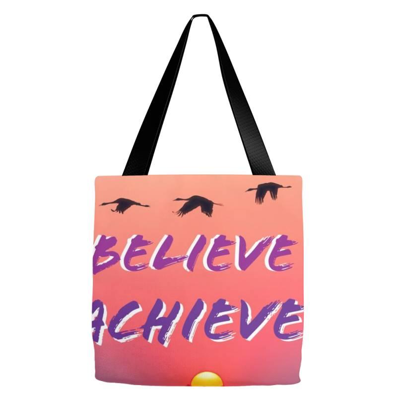 Imagine Believe Achieve Tote Bags | Artistshot