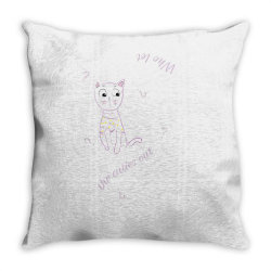 cat tshirt Throw Pillow | Artistshot