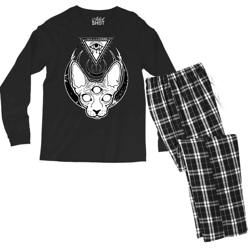 All Seeing Sphynx Men's Long Sleeve Pajama Set | Artistshot