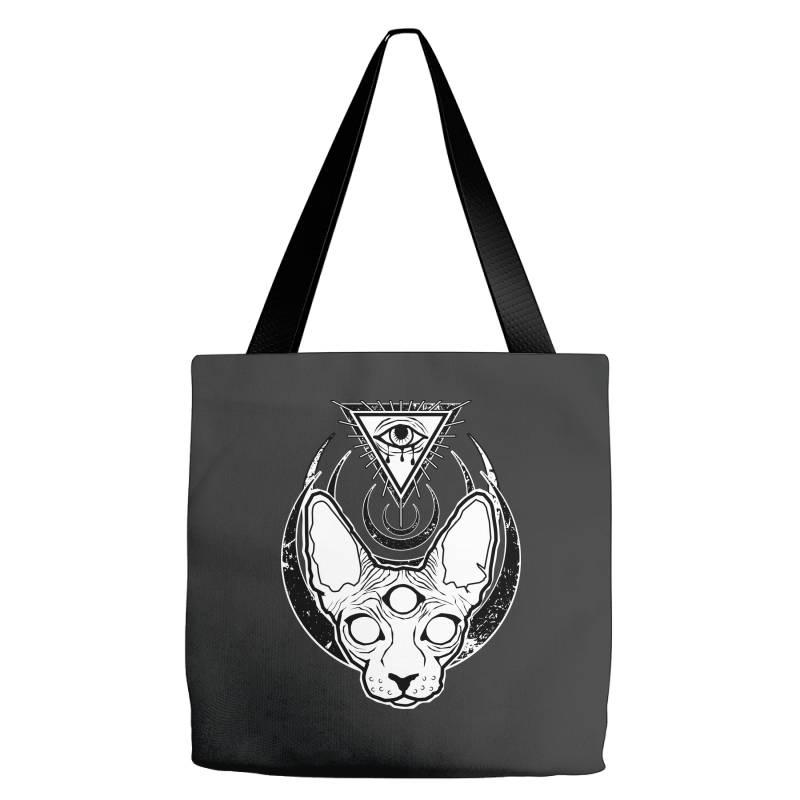 All Seeing Sphynx Tote Bags | Artistshot