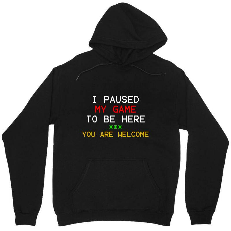 I Paused My Game To Be Here You're Welcome Unisex Hoodie | Artistshot
