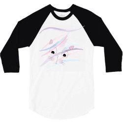 cute cat face t-shirt 3/4 Sleeve Shirt | Artistshot