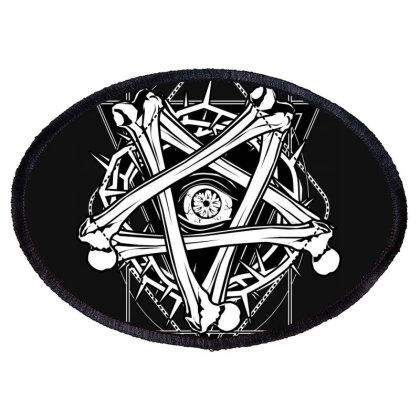 Inverted Bonetagram Oval Patch Designed By Von Kowen