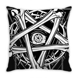 Inverted Bonetagram Throw Pillow   Artistshot