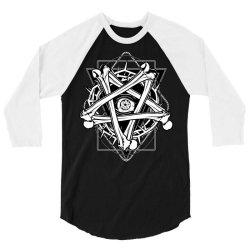 Inverted Bonetagram 3/4 Sleeve Shirt   Artistshot